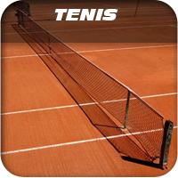 red pista de tenis