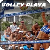 red para volley playa