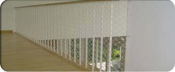 redes para protección de escaleras