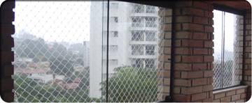 red para protección de ventanas