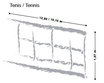 medida tenis
