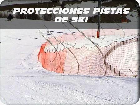 acceso protecciones pistas de ski